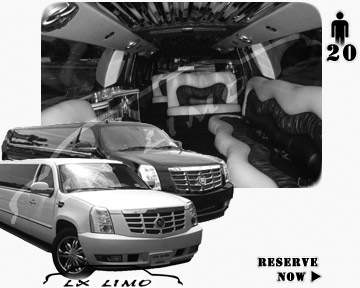 Cadillac Escalade 20 passenger SUV Limousine for rental in Manhattan, NY