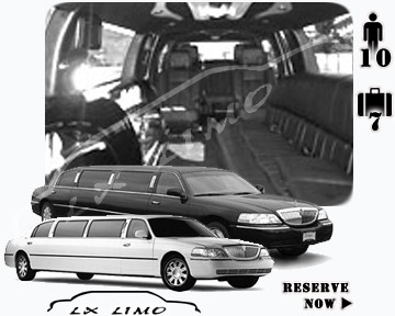 Stretch Limo airport shuttle in Manhattan