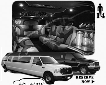 Lincoln Excursion SUV Limo for hire in Manhattan, NY